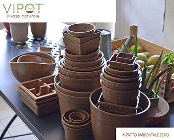 vasi in lolla di riso biodegradabili